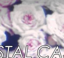 Crystal Castles washed out flowers Sticker