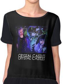 Crystal Castles Glitch Art Chiffon Top