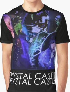 Crystal Castles Glitch Art Graphic T-Shirt
