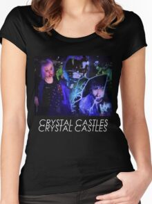 Crystal Castles Glitch Art Women's Fitted Scoop T-Shirt