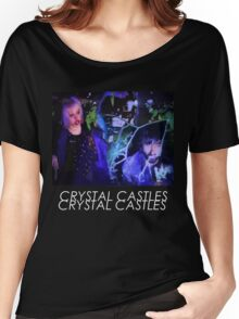 Crystal Castles Glitch Art Women's Relaxed Fit T-Shirt