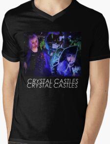 Crystal Castles Glitch Art Mens V-Neck T-Shirt