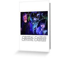 Crystal Castles Glitch Art Greeting Card