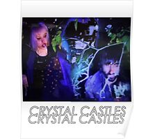 Crystal Castles Glitch Art Poster
