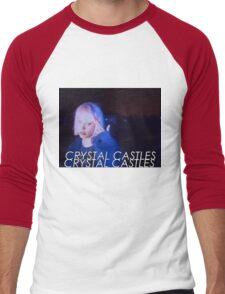 Crystal Castles Alice VHS filter Men's Baseball ¾ T-Shirt