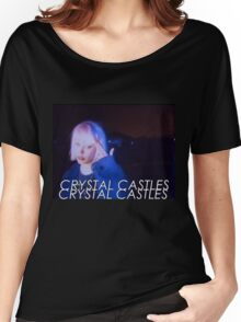 Crystal Castles Alice VHS filter Women's Relaxed Fit T-Shirt