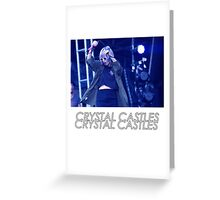 Crystal Castles Alice Performing VHS Filter Greeting Card