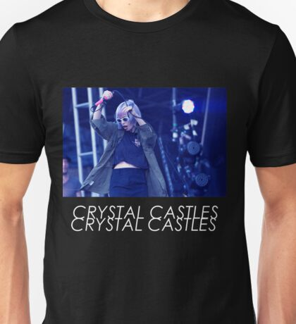 Crystal Castles Alice Performing VHS Filter Unisex T-Shirt