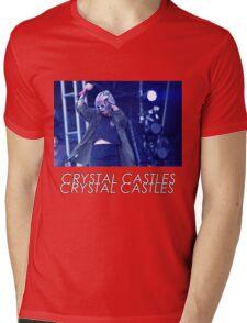 Crystal Castles Alice Performing VHS Filter Mens V-Neck T-Shirt