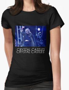 Crystal Castles Alice Performing VHS Filter Womens Fitted T-Shirt