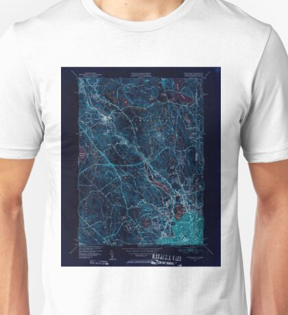 USGS TOPO Map Rhode Island RI Pawtucket 353441 1949 31680 Inverted Unisex T-Shirt