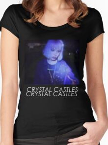Crystal Castles Alice VHS filter coloradjust 3 Women's Fitted Scoop T-Shirt
