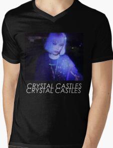 Crystal Castles Alice VHS filter coloradjust 3 Mens V-Neck T-Shirt