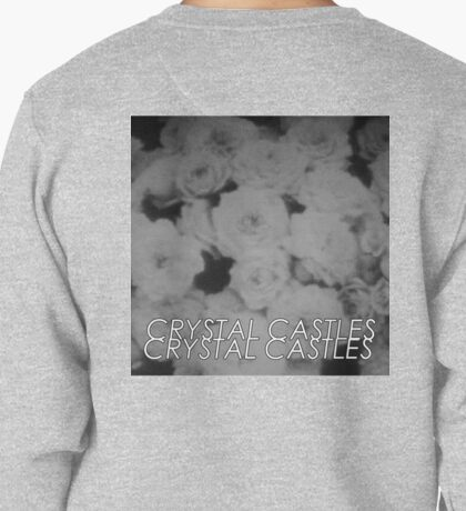 Crystal Castles Washed out flowers black and white Pullover