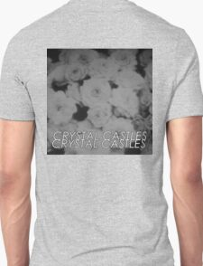 Crystal Castles Washed out flowers black and white T-Shirt