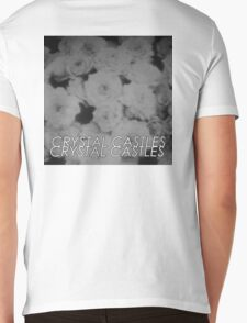 Crystal Castles Washed out flowers black and white Mens V-Neck T-Shirt