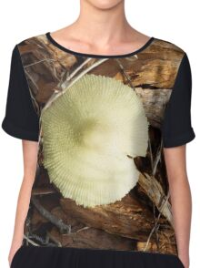 Mushroom and Woodchips Chiffon Top