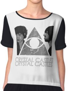 Crystal Castles Vietnam Concept black and white 5 Chiffon Top