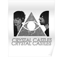 Crystal Castles Vietnam Concept black and white 5 Poster