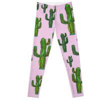Pink Cactus Print Leggings