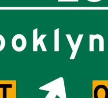 Brooklyn Bridge, NYC Road Sign, USA Sticker