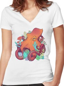 Succulent Farmer Women's Fitted V-Neck T-Shirt