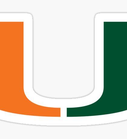U Miami Sticker