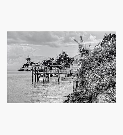Eastern Road Lighthouse in Nassau, The Bahamas Photographic Print