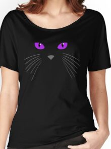 Cat face-Black cat Women's Relaxed Fit T-Shirt