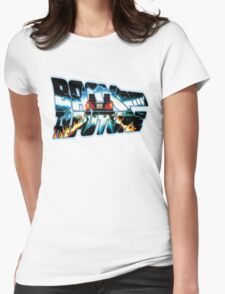 Back to the Future-Time travel Womens Fitted T-Shirt