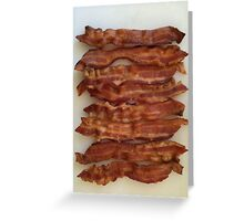 BACON LOVERS UNITE Greeting Card