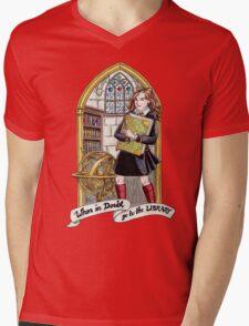 Hermione Bookworm Mens V-Neck T-Shirt