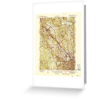 USGS TOPO Map Rhode Island RI Pawtucket 353439 1944 31680 Greeting Card