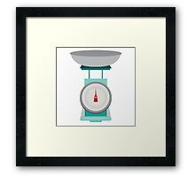 Kitchen Scales Framed Print