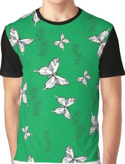 Pattern with butterflies and flowers Graphic T-Shirt