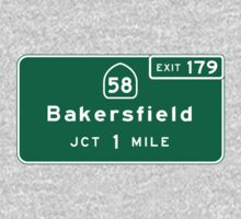 Bakersfield, CA Road Sign, USA Kids Tee