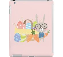 Easter Bunny With Basket of Colored Eggs iPad Case/Skin