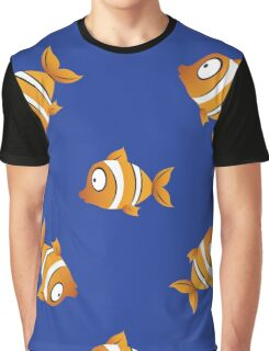 pattern with fishes Graphic T-Shirt