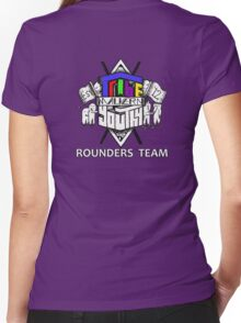 Tribe Rounders Team white font Women's Fitted V-Neck T-Shirt