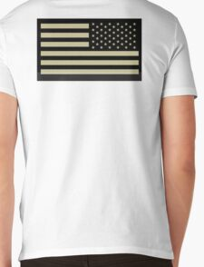 AMERICAN ARMY, Soldier, American Military, Arm Flag, US Military, IR, Infrared, USA, Flag Mens V-Neck T-Shirt