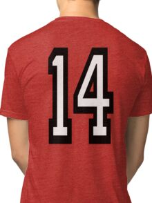 14, TEAM SPORTS, NUMBER 14, FOURTEEN, FOURTEENTH, Competition,  Tri-blend T-Shirt