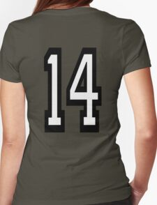 14, TEAM SPORTS, NUMBER 14, FOURTEEN, FOURTEENTH, Competition,  Womens Fitted T-Shirt