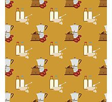 coffee pattern Photographic Print