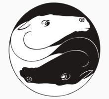 Horse Yin Yang One Piece - Long Sleeve