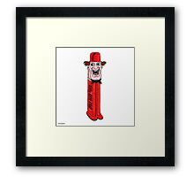 FEZ DISPENSER Framed Print