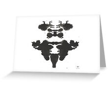 Stags ink blot  Greeting Card