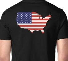 American Flag, Country Outline, America, Americana, Stars & Stripes, USA, Pure & Simple Unisex T-Shirt