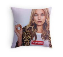 supreme kate moss Throw Pillow