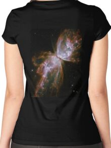 Butterfly, Nebula, HUBBLE, NASA, Telescope, Astronomy, Star cluster, Women's Fitted Scoop T-Shirt