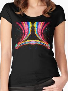 Mirrored Crayola Diffraction Women's Fitted Scoop T-Shirt